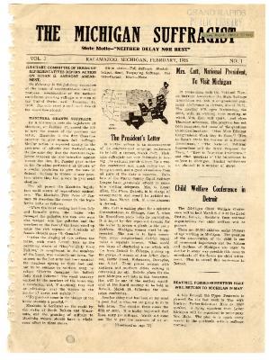 The Michigan Suffragist, February 1916