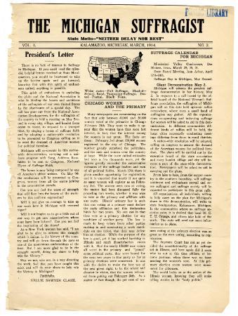 The Michigan Suffragist, March 1914