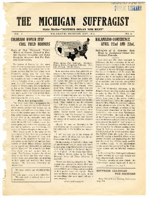 The Michigan Suffragist, May 1914