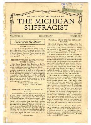 The Michigan Suffragist, February 1917