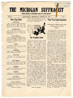 The Michigan Suffragist, February 1915