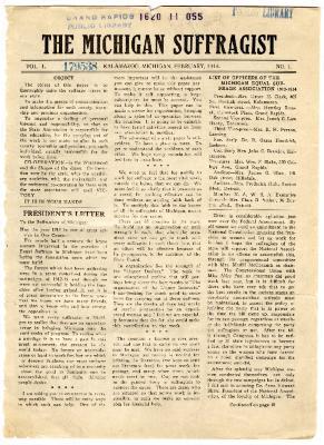 The Michigan Suffragist, February 1914