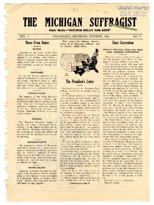 The Michigan Suffragist, October 1916