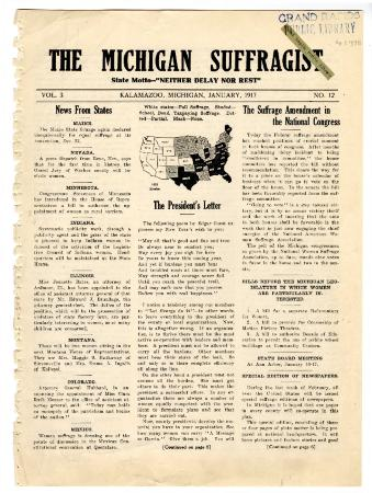The Michigan Suffragist, January 1917