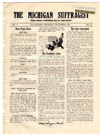 The Michigan Suffragist, November 1915