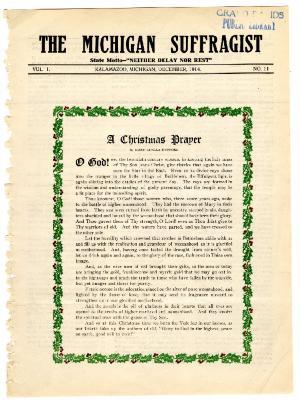 The Michigan Suffragist, December 1914