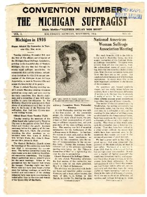 The Michigan Suffragist, November 1914