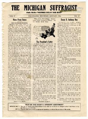 The Michigan Suffragist, January 1916