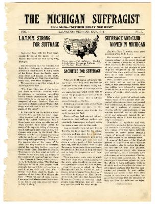 The Michigan Suffragist, July 1914