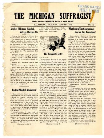 The Michigan Suffragist, January 1915
