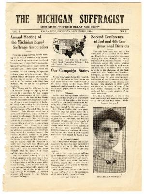 The Michigan Suffragist, September 1914