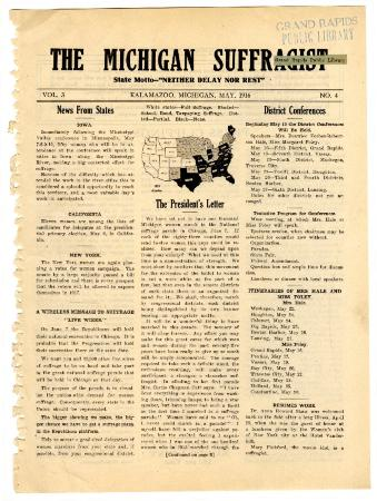 The Michigan Suffragist, May 1916