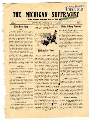 The Michigan Suffragist, June 1916