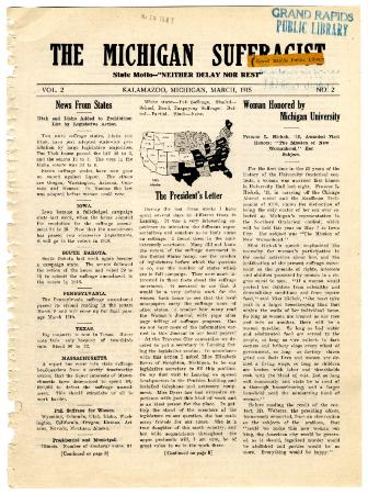 The Michigan Suffragist, March 1915