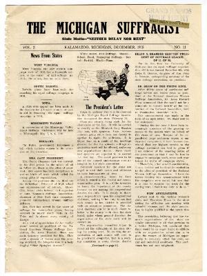 The Michigan Suffragist, December 1915