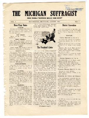 The Michigan Suffragist, August 1915
