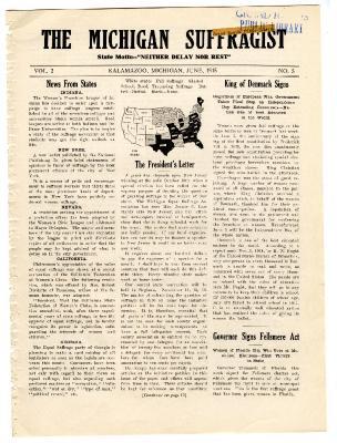 The Michigan Suffragist, June 1915