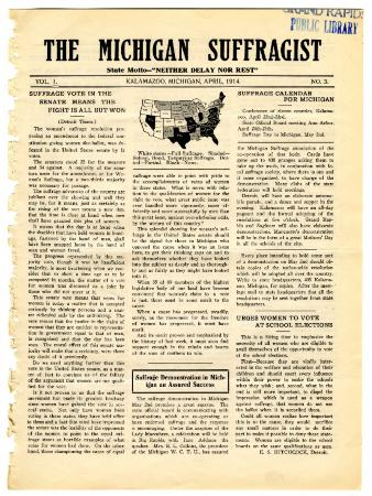 The Michigan Suffragist, April 1914