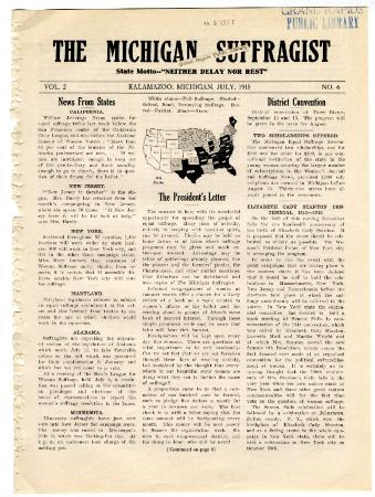 The Michigan Suffragist, July 1915