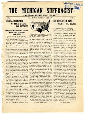 The Michigan Suffragist, June 1914