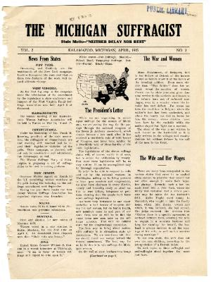 The Michigan Suffragist, April 1915