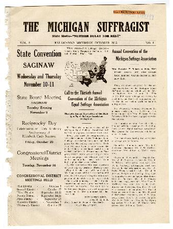 The Michigan Suffragist, October 1915