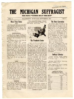 The Michigan Suffragist, September 1915