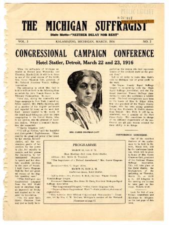 The Michigan Suffragist, March 1916