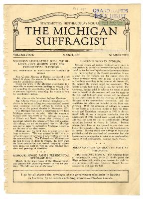 The Michigan Suffragist, March 1917