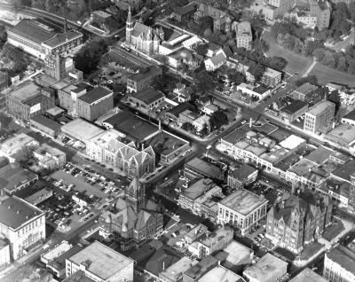 Aerial View Downtown Grand Rapids