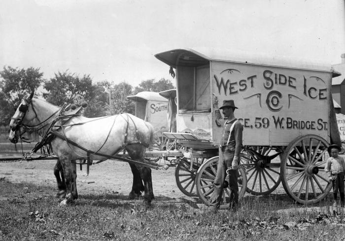 West Side Ice Co. delivery wagon