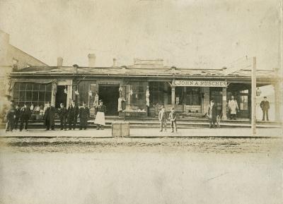 Rusche's Meat Market, 1880