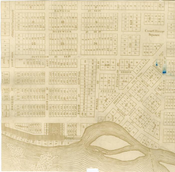 Map of Grand Rapids, 1840