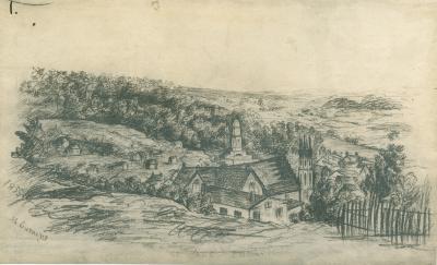 Sketch. Grand Rapids view 1855