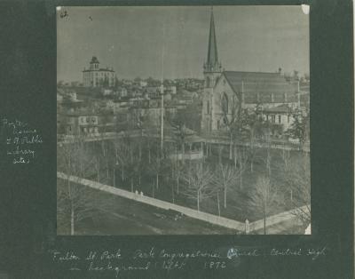 Fulton Street park, 1872