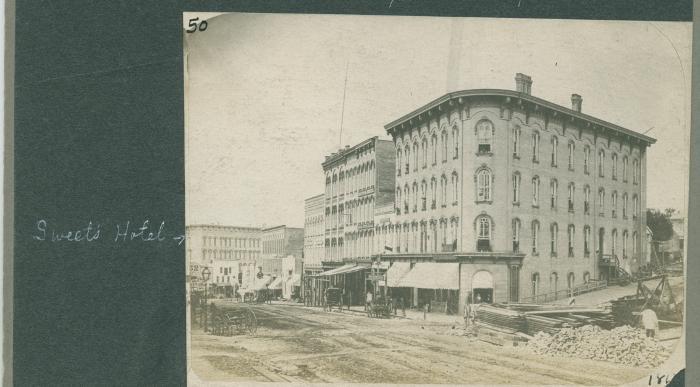 Monroe Center view, 1865