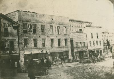Campau Square view, 1872