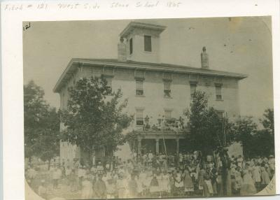 Old stone school house, 1865
