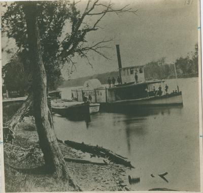 """Steamboat. """"William Barrett,"""" 1880"""