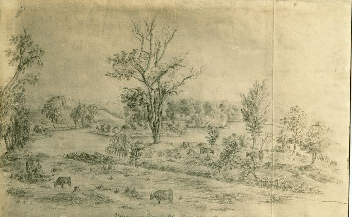 Grand River view, 1861