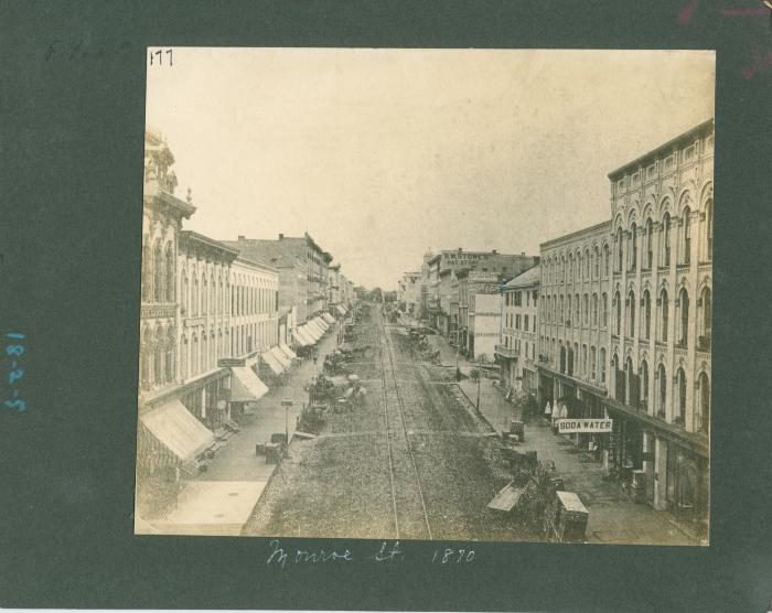 Monroe Avenue view, 1870