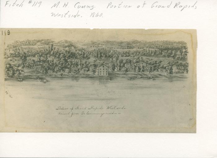 Grand Rapids view, 1860