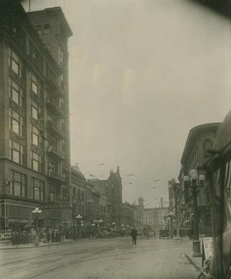 Monroe Center view, 1910