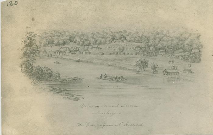 Grand River view, 1860