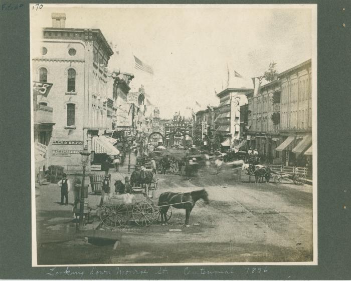 Monroe Center view, 1876