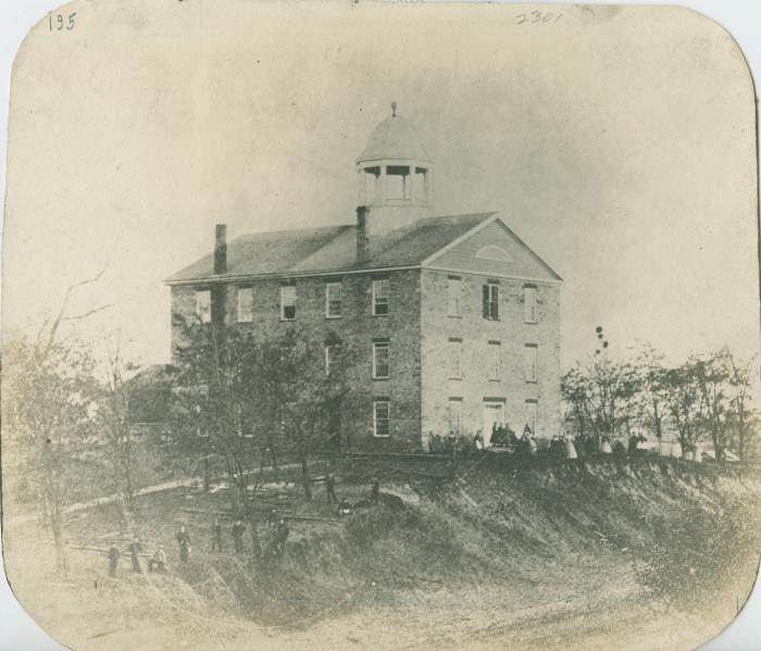 Old stone high school, 1860