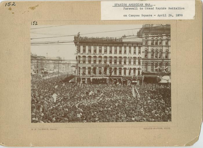 Campau Square view, 1898
