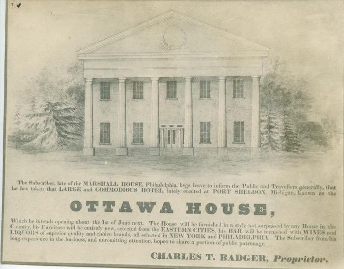 Ottawa House, 1844