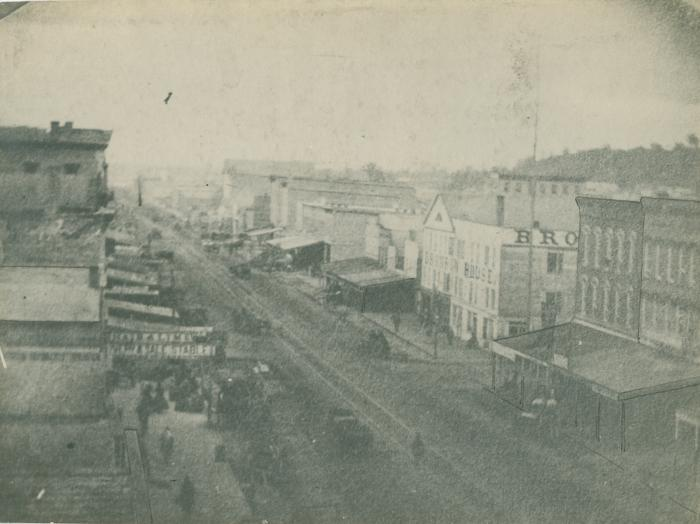 Monroe Avenue view, 1866