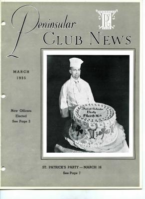 Peninsular Club News, March 1935